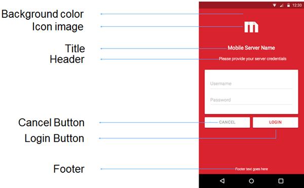 Customizing the login screen