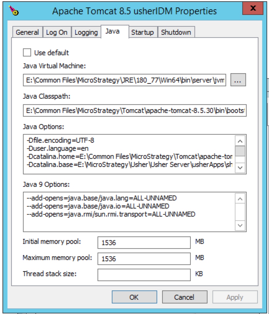 Adding JMX Support to a MicroStrategy Identity Installation