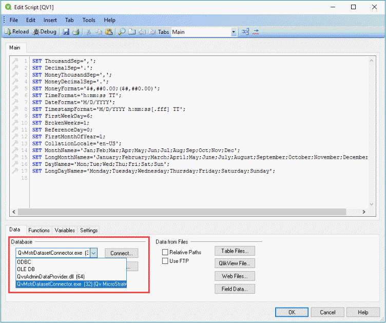 How to Use the QlikView Dataset Connector